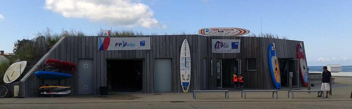 Base nautique de Sion à St Hilaire de Riez en Vendée