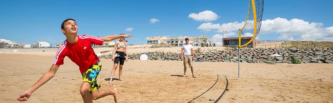 Beach volley plage des demoiselles