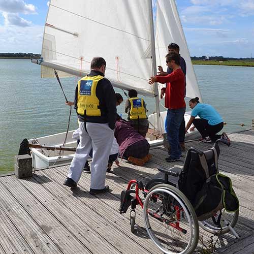 Handi nautisme et accessibilité PMR à Saint Hilaire de Riez en Vendée
