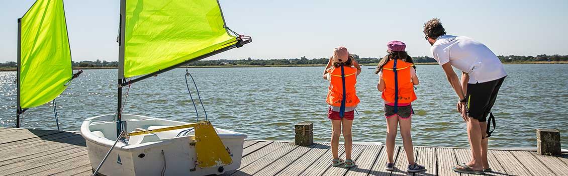 Activités enfants base nautique des Vallées à Saint Hilaire de Riez en Vendée