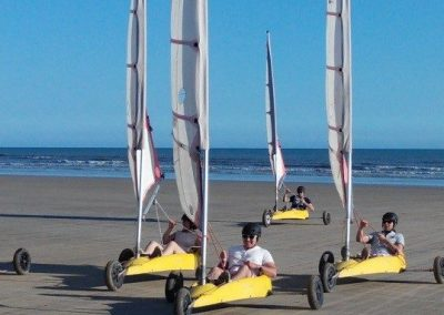 Sand yachting